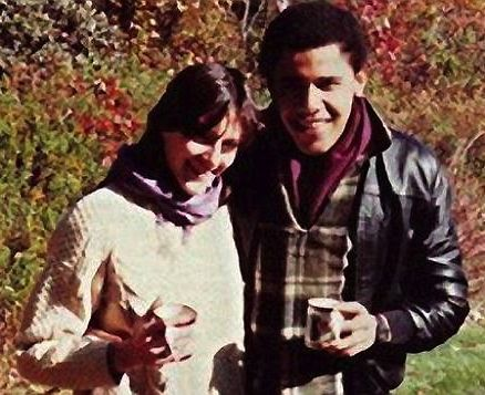 Barack Obama and Genevieve Cook