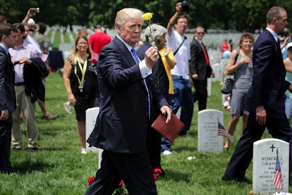 Donald Trump Memorial Day Arlington
