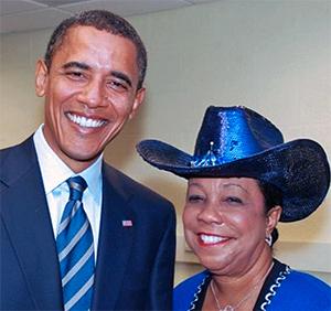 Barack Obama and Frederica Wilson