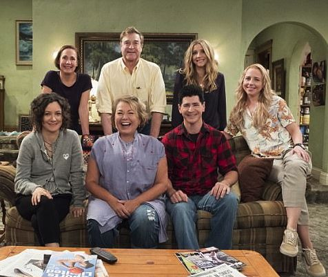 Roseanne Barr and cast