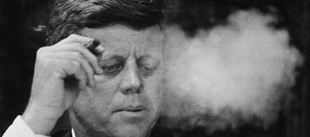 JFK smoking cigar