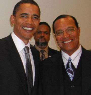 Barack Obama and Louis Farrakhan