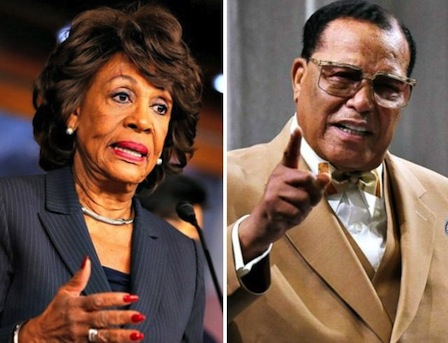 Maxine Waters and Louis Farrakhan