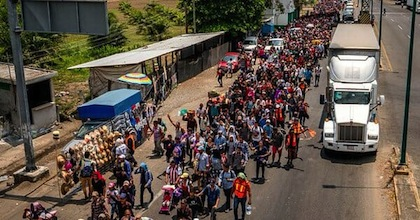 Migrant caravan in Mexico