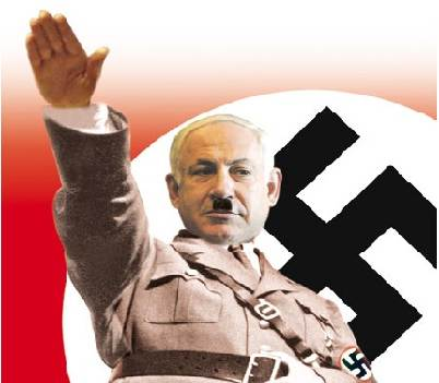 Netanyahu as Nazi