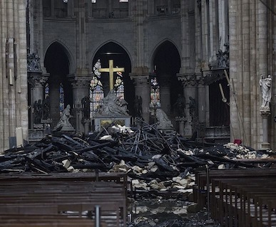 The wreckage of Notre Dame