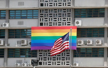 Gay flag at U.S. embassy